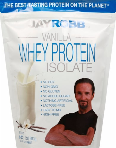 Jay Robb  Whey Protein Isolate   Vanilla Perspective: front