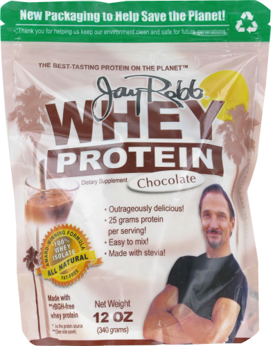 Jay Robb Chocolate Whey Protein Powder Perspective: front