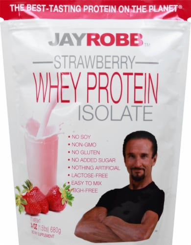 Jay Robb  Whey Protein Isolate   Strawberry Perspective: front