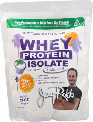 Jay Robb  Whey Protein Isolate   Unflavored Perspective: front