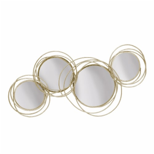 Looped Gold 4 Circle Mirrors, Wb Perspective: front