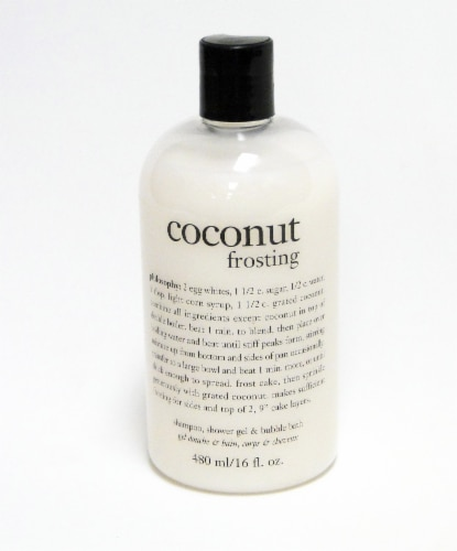Philosophy Coconut Frosting Shampoo Shower Gel and Bubble Bath Perspective: front