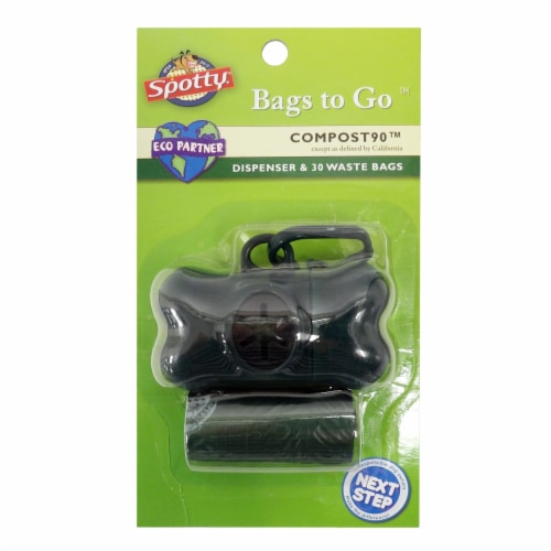 Spotty Compost90 Bags to Go Dispenser & Waste Bags Perspective: front