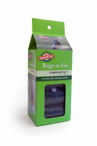 Spotty Compost90 Rolled Handle Waste Bags Perspective: front