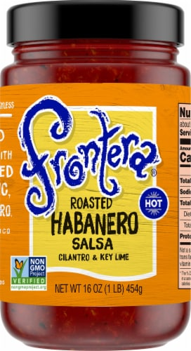Frontera Gourmet Mexican Roasted Habanero Hot Salsa Perspective: front