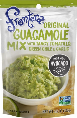 Frontera Original Guacamole Mix with Tangy Tomatillo Green Chile + Garlic Perspective: front