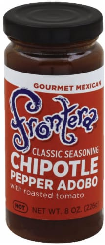 Frontera Gourmet Mexican Chipotle Pepper Adobo with Roasted Tomato Hot Classic Seasoning Perspective: front