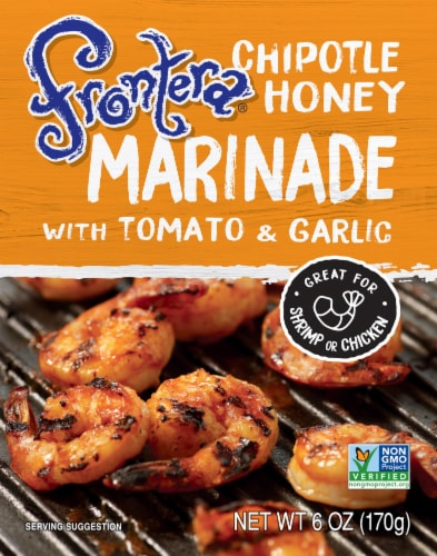 Frontera Chipotle Honey Marinade with Tomato + Garlic Perspective: front