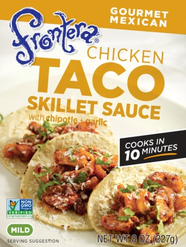 Frontera Chicken Mild Taco Skillet Sauce Perspective: front