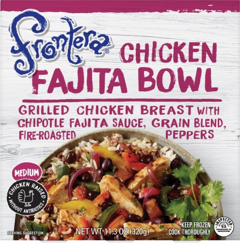 Frontera Medium Chicken Fajita Bowl Perspective: front