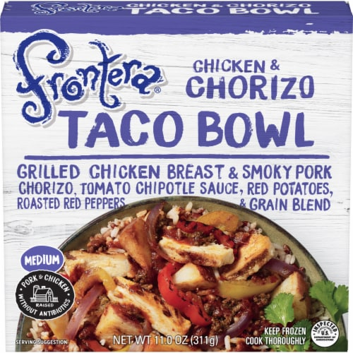 Frontera Medium Chicken and Chorizo Taco Bowl Perspective: front