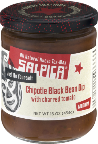 Salpica Medium Chipolte Black Bean Dip Perspective: front
