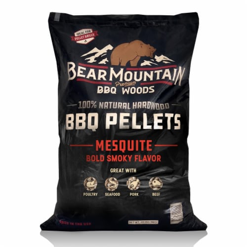 Bear Mountain BBQ Premium All Natural Wood Mesquite Smoker Pellets, 40 Pounds Perspective: front