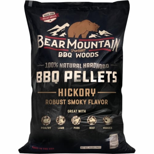 Bear Mountain BBQ Premium Woods 20 Lb. Hickory Wood Pellet FK14 Perspective: front