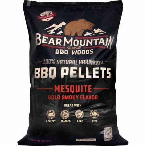 Bear Mountain BBQ Premium Woods 20 Lb. Mesquite Wood Pellet FK17 Perspective: front