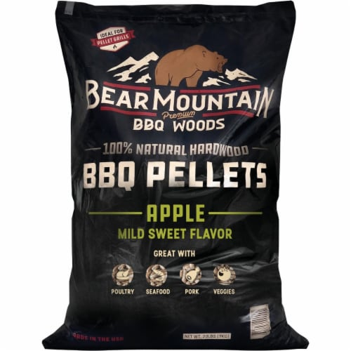 Bear Mountain BBQ Premium Woods 20 Lb. Apple Wood Pellet FK12 Perspective: front