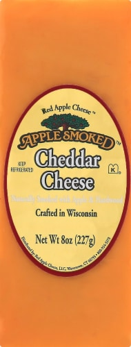 Red Apple Smoked Cheddar Cheese Perspective: front