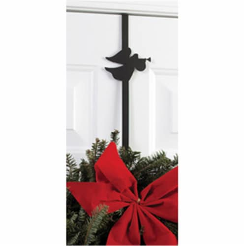 Village Wrought Iron WRE-B-48 Angel Wreath Hanger Perspective: front