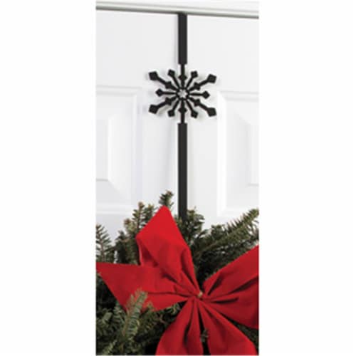 Village Wrought Iron WRE-B-85 Snowflake Wreath Hanger Perspective: front