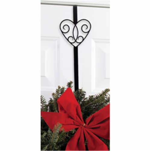 Village Wrought Iron WRE-B-110 Heart Wreath Hanger Perspective: front