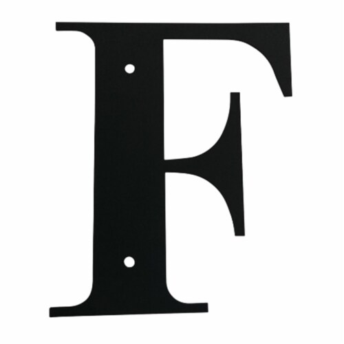 Wall Decor with Metal Crafted Letter F, Small, Black Perspective: front