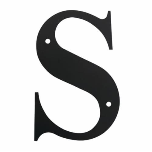 Wall Decor with Metal Crafted Letter S, Small, Black Perspective: front