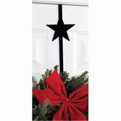 Village Wrought Iron WRE-B-45 Star Wreath Hanger Perspective: front