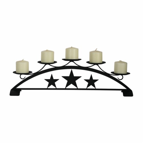 Star - Table Top Pillar Candle Holder Perspective: front