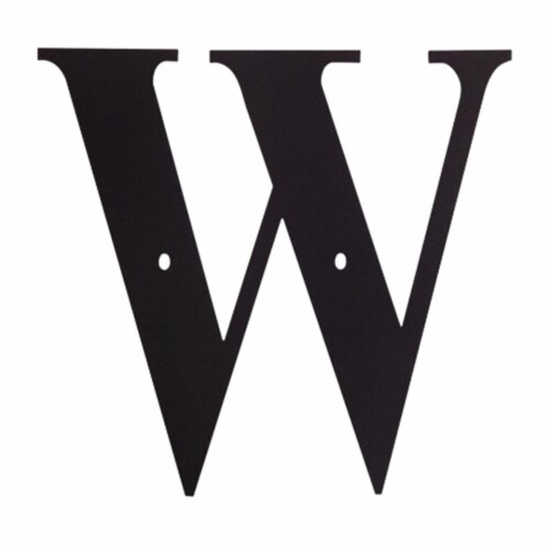 Letter W Medium Perspective: front