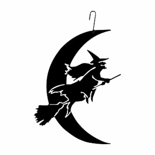 Witch-Moon - Decorative Hanging Silhouette Perspective: front