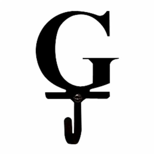 3.63 Inch Letter G Wall Hook Small Perspective: front
