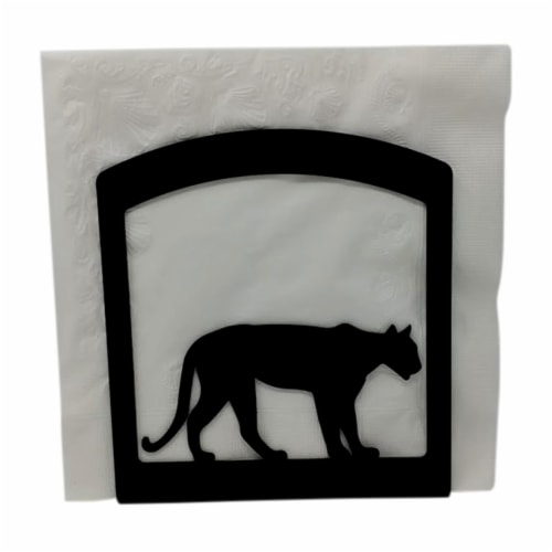 Village Wrought Iron NH-341 Mountain Lion Napkin Holder Perspective: front