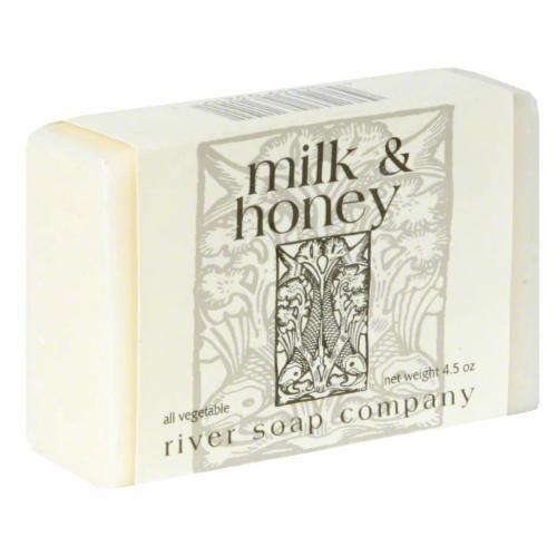 River Soap Company Milk & Honey Body Bar Perspective: front