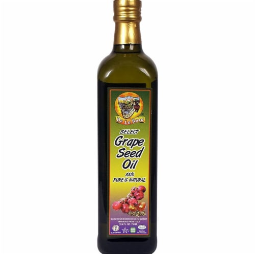 De La Rosa  Grape Seed Oil Non-GMO Hexane Free Perspective: front