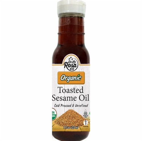 De La Rosa  Organic Toasted Sesame Oil Perspective: front