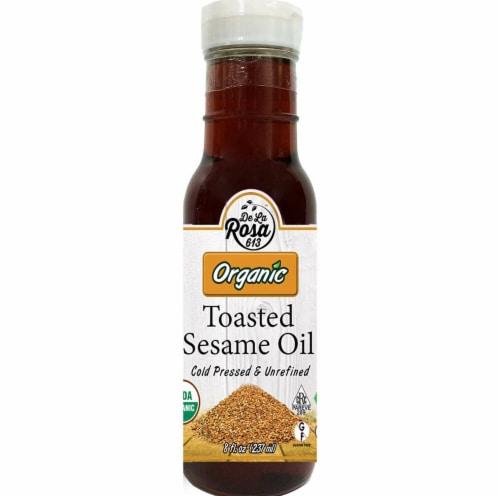 De La Rosa  Organic Toasted Sesame Oil Perspective: front