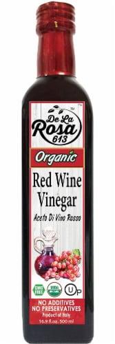 De La Rosa  Organic Italian Red Wine Vinegar Perspective: front