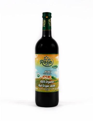 De La Rosa  Organic Red Grape Juice Perspective: front