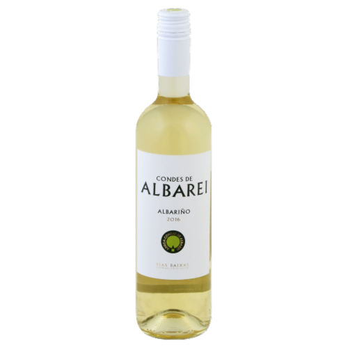 Condes De Albarei Albarino White Wine Blend Perspective: front