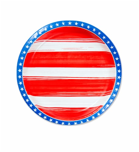American Greetings Patriotic Paper Dinner Plates Perspective: front