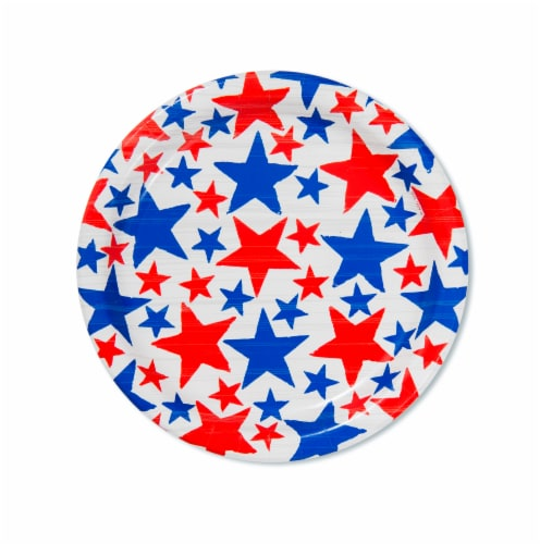 American Greetings Patriotic Paper Dessert Plates Perspective: front