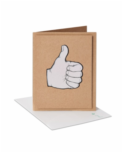American Greetings Congratulations Card (Thumbs-Up) Perspective: front