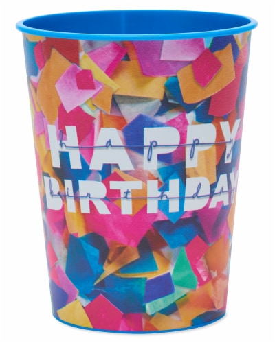 American Greetings Confetti Birthday Party Stadium Cups Perspective: front