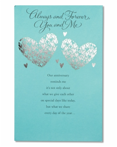 American Greetings Wedding Anniversary Romantic Card (Greatest Gift) Perspective: front
