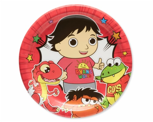 American Greetings Ryan's World Paper Dinner Plates Perspective: front