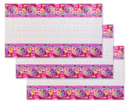 American Greetings My Little Pony Pink Plastic Table Covers Perspective: front