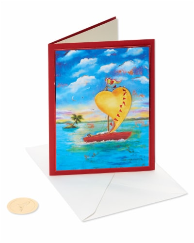 Papyrus Anniversary Card (Sailboat) Perspective: front
