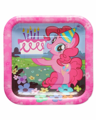 American Greetings Confetti Birthday Party Dinner Plates Perspective: front