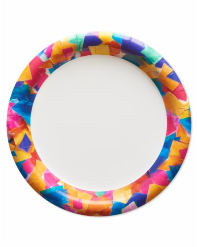 American Greetings Confetti Birthday Party Dessert Plates Perspective: front