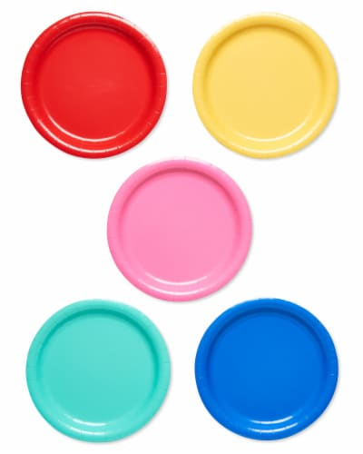 American Greetings Assorted Colors Paper Plates Perspective: front